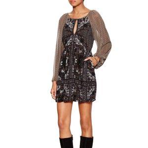 Free People Oksana Mini Dress Black Gray Size 0